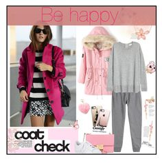 """""""Fall Pink Coat"""" by beautifulsunshine1 ❤ liked on Polyvore featuring Stephen Webster, McQ by Alexander McQueen, MICHAEL Michael Kors, Mudd, Casetify, adidas and Dunn"""