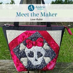 Meet the Maker Love Rubie - Andrie Designs Paper and PDF bag patterns Handmade bag Making Bags, Reverse Applique, Lisa S, Bag Patterns, Bird Design, Free Motion Quilting, Handmade Bags, Creativity, Pouch