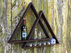 Geometric triangle shelf handmade from by BraswellDesigns on Etsy