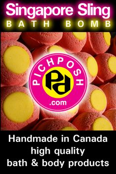 """PICHPOSH .com has a new Bath Bomb - ★★★Singapore Sling★★★- Pineapple, Cherry, Orange & Pomegranate will delight you. There's a new treat at Regina's """"Queen City Ex"""" this year!  Visit PICHPOSH's Booth 422 - Credit Union EventPlex, August 1 - 5, 2012 - for all your favourite Handmade High Quality Bath & Body Products - PICHPOSH.com http://www.pichposh.com #summer #bathbomb #bathandbody #singaporesling #regina #QueenCityEx #pichposh"""