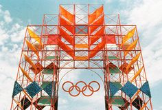 Deborah Sussman, environmental designer who created the colorful identity for the Los Angeles 1984 Olympics, has died. Entrance Design, Stage Design, Event Design, Design Design, Design Ideas, Environmental Graphic Design, Environmental Graphics, Sitemap Design, 1984 Summer Olympics