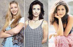 Friends girls then - NBC via Getty Images