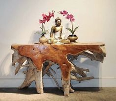 Organic Teak Root Console Table | Gado Gado