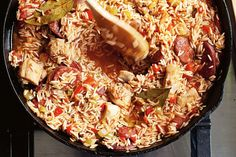 Get-ahead chorizo and chicken jambalaya main image