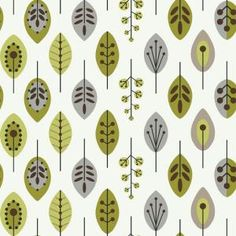 York Wallcoverings, 56 sq. ft. Retro Leaves Wallpaper, KB8525 at The Home Depot - Mobile