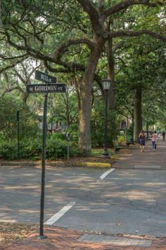 Visiter Savannah Georgie - panneaux dans la rue