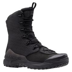 The Under Armour Infil Ops GTW is a rugged tactical boot designed to handle any mission on any terrain. Built with a waterproof leather and high-abrasion textile upper, this versatile boot is ideal for urban infiltration missions or treks over rocky terrain. The waterproof GORE-TEX membrane keeps moisture out, while promoting a breathable interior to prevent overheating. The thermoplastic polyurethane stability chassis provides critical support, and the molded rubber toe cap offers…