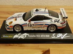 Porsche 911 GT3 1:24 Tiemann Maassen Luhr signiert Autogramm Motorama