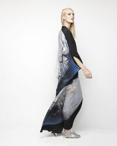House Of Cannon - Launching Los Angeles - SS17/18 Round Kimono and V Neck Maxi in It's A Small World print