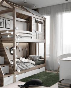 Bedroom Ideas - Home Dream Home Affordable Kids Bedroom Design Ideas That Suitable For Kids Kids Bedroom Designs, Kids Room Design, Bed Design, House Design, Small Room Bedroom, Teen Bedroom, Bedroom Decor, Bedroom Ideas, Blue Bedrooms