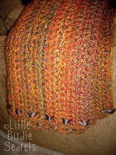 Little Birdie Secrets: quick and simple crocheted afghan - free crochet pattern Love Crochet, Learn To Crochet, Single Crochet, Crochet Hooks, Knit Crochet, Afghan Crochet Patterns, Crochet Stitches, Knitting Patterns, Crochet Afghans