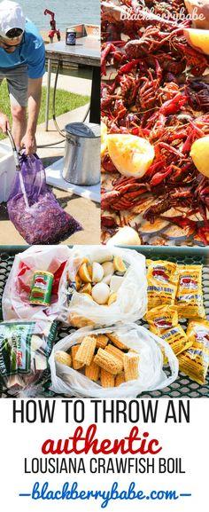 Louisiana Crawfish Boil - Louisiana Crawfish Boil Recipe by www.blackberrybab… -Authentic Louisiana Crawfish Boil - Louisiana Crawfish Boil Recipe by www. Louisiana Crawfish Boil Recipe, Cajun Boil, Crawfish Recipes, Seafood Boil Recipes, Louisiana Recipes, Cajun Recipes, Low Country Boil Recipe With Crawfish, How To Boil Crawfish, Louisiana Seafood