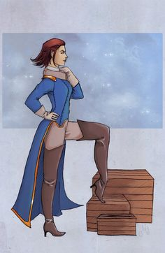 """Captain Amelia by Molly-Foster.deviantart.com on @deviantART - Anthropomorphized version of Captain Amelia from """"Treasure Planet"""""""