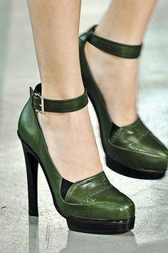 beautiful green shoes
