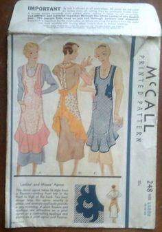 Apron 1934 Mc Calls Apron Printed Sewing Pattern 248