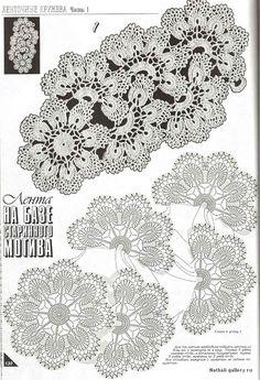 Crochet Flower - Chart    http://www.liveinternet.ru/users/4761643/post215307490/