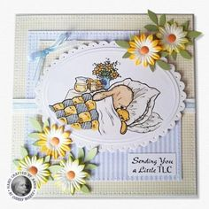 Pachela Studios Digi Stamp - Toby Tumble Get Well Soon < Craft Shop | Cuddly Buddly Crafts