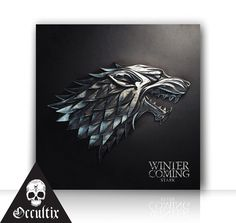 Game Of Thrones House Stark Canvas Print Metallic by Occultix