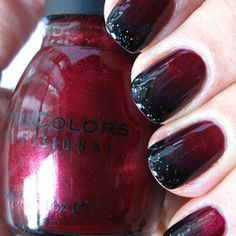 Vampy Ombre Nails http://www.maryammaquillage.com/2011/10/black-blood-ombre-nails.html
