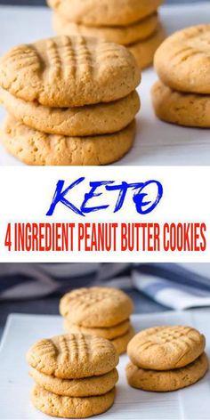 Keto Cookies AMAZING ketogenic diet cookies Easy 4 ingredient peanut butter low carb cookies BEST keto dessert keto snack or keto breakfast idea Try these simple quick. Keto Cookies, Keto Peanut Butter Cookies, Butter Cookies Recipe, Brownie Cookies, Low Carb Peanutbutter Cookies, Peanut Butter Healthy Snacks, No Sugar Cookies, Healthy Gluten Free Snacks, Carb Free Snacks