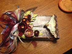 Wonderland Mini Album using Marion Smith's printable. The cover is decorated with my own handmade paper flowers.