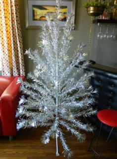 Aluminum Christmas trees are making a comeback!  We had one in the 60's.