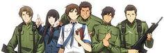 Komaki, Shibasaki, Kasahara, Genda, Dojo, and Tezuka (Toshokan Senso)