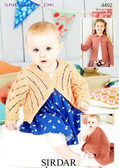 Sirdar - 4492 - Cardigans (birth - age 7) - $5.95 -