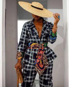 African Inspired Fashion, African Print Fashion, African Braids, African Wear, Mixing Prints, African Fabric, Black Girl Magic, Style Me, Wrap Dress