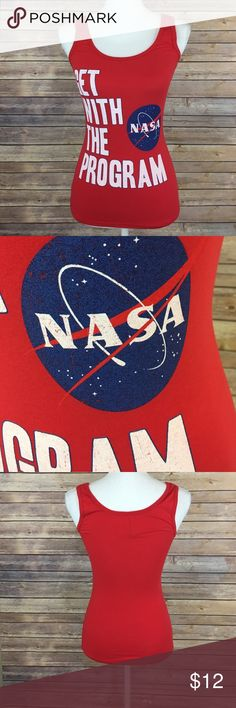NASA tank top Used but good condition! Perfect with some boyfriend jeans or shorts! threadfast Tops Tank Tops