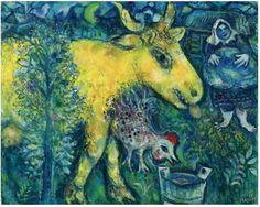 The Farmyard by Marc Chagall, 1954 #MarcChagall #art http://www.johanpersyn.com/marc-chagall-in-magisch-realistisch-vitebsk/