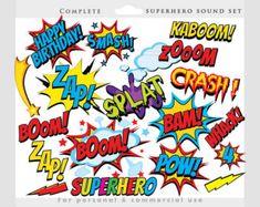 Superhero Clipart Comic Book Clip Art Comic Book by YarkoDesign