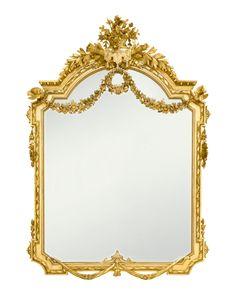Antique Mirror, Napoleon III Style, Giltwood, Apollo's Torch | M.S. Rau Antiques