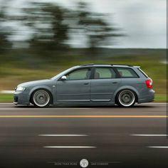 Audi avant in Nardo grey, rotiform and air ride Vw Wagon, Audi Wagon, Wagon Cars, Audi A4, Audi A6 Avant, A4 Avant, Slammed Cars, Audi Allroad, Sports Wagon