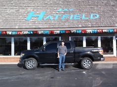 """Frank, wishing you many """"Miles of Smiles"""" in your 2014 Ford F-150!  All the best, Jay Hatfield Ford and Scot Fisher."""