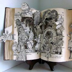 Alice In Wonderland By: Susan Hoerth Altered Book