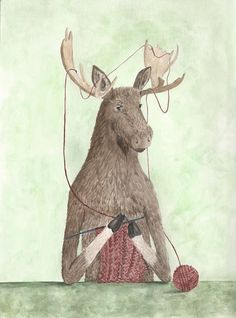 Hey, I found this really awesome Etsy listing at https://www.etsy.com/listing/209878199/moose-print-85x11