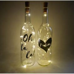 Add a golden touch to your home or office with these stunning light up bottles! Available in 10 color options.