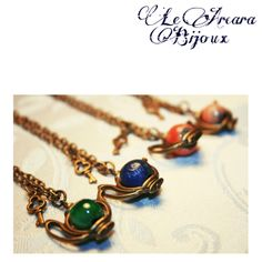 "collane ""alice in wonderland"" con perle in ceramica raku https://www.facebook.com/le.arcarabijoux"