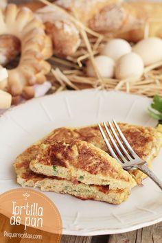 Tortilla de pan, una receta fácil ¡y rica!