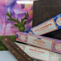 Nga Champa Variety Incense Pack Nirvana incense white sage incense nga champa incense cleansing products incense packs Nag Champa Incense, Smudge Sticks, Incense Holder, Incense Sticks, Smudging, Cleanse, Sage, Packing, Nirvana