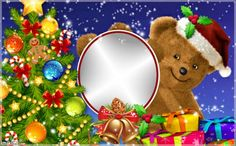 sweet christmas Happy Holidays Pictures, Christmas Boarders, Holy Night, Picture Frames, Santa, Merry, Teddy Bear, Sweet, Cards