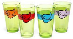 Minimalist Teenage Mutant Ninja Turtles pint glass set
