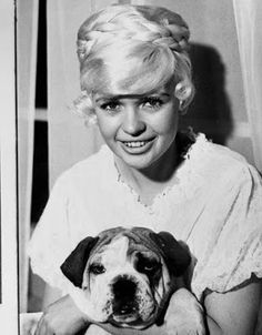 0 jayne mansfield with puppy in her arms