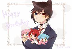 Wolf Boy Anime, Neko, Boys, Prince, Strawberry, Twitter, Baby Boys, Strawberry Fruit, Senior Boys