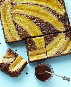 Fűszeres, banános fordított sütemény #recipe