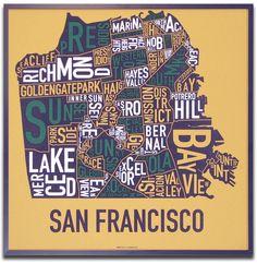 San Francisco typography poster!