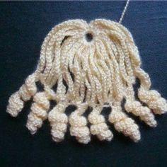 Вязаный парик для куклы. Схема