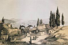 Landscape at Scutari (Üsküdar). In the background, the Tower of Leander. - COOK, Henry - 1853