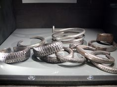 Items from the silver Viking hoard, Spillingaskatten, found on the Swedish island Gotland in 1999.